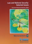 Law and National Security : selected issues / Pnina Sharvit Baruch and Anat Kurz, editors – הספרייה הלאומית