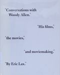Conversations with Woody Allen : his films, the movies, and moviemaking / Eric Lax – הספרייה הלאומית