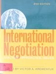 International negotiation : analysis, approaches, issues / Victor A. Kremenyuk, editor – הספרייה הלאומית